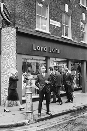 Warren Gold at his Carnaby St. store